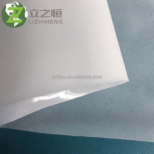 Transparent white breathable TPU Hot melt adhesive film for textile fabric