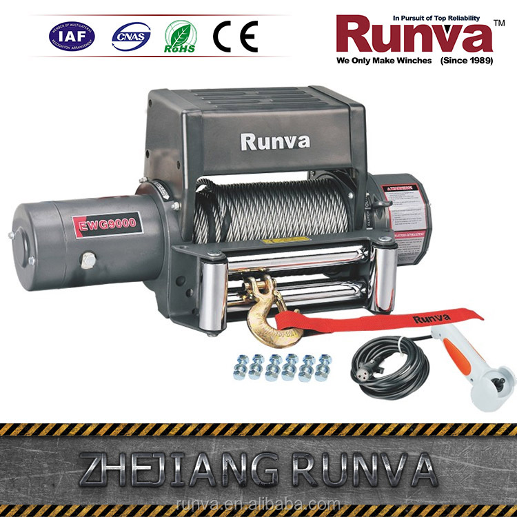 Most popular DC 12V or 24V Power drive optional 9000 lbs Electric winch off road