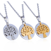 Stainless Steel Tree Of Life Charms Necklace Tree Pendant