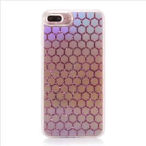 For iPhone 7plus/8plus Mobile Phone Case Fish Scale/Triangle/Polygon  Customized Liquid Back Cover