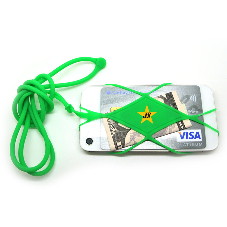 Fashion Cell Phone Business Card Holder Silicone Necklace Lanyard ...