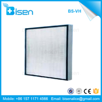 BS-VH Minipleat High Velocity Hepa Filter and BS-WuGe Mini-pleat Panel Hepa Air Filter