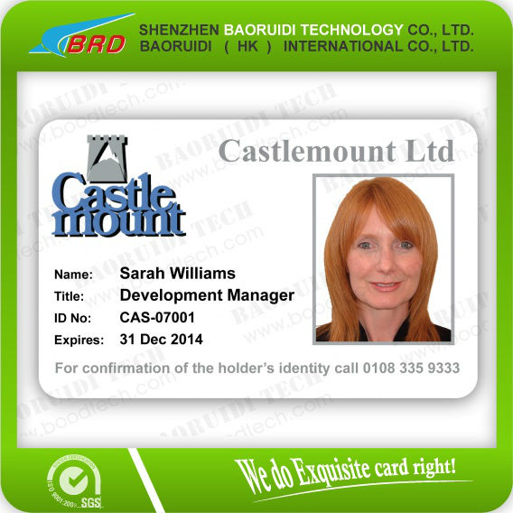Fast Free Sample! Contactless Staff/employee/work Permit Id Card ...