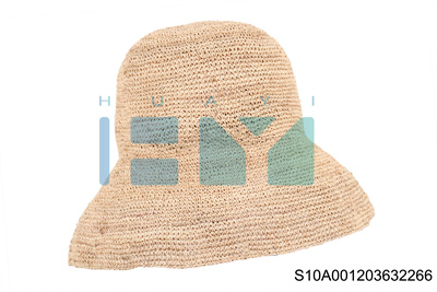 High Quality Sun Protection Raffia Crochet Cloche Hats for sale