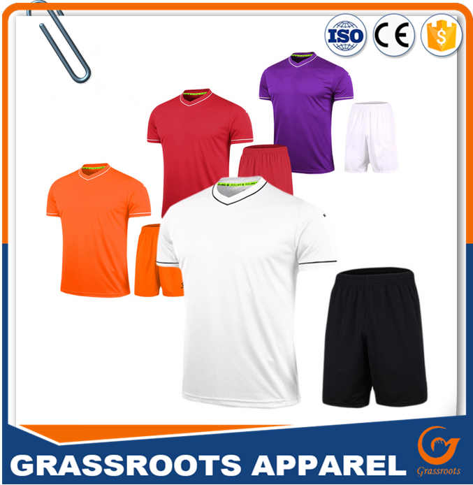 Latest football jersey design,Blank football training uniform in stock