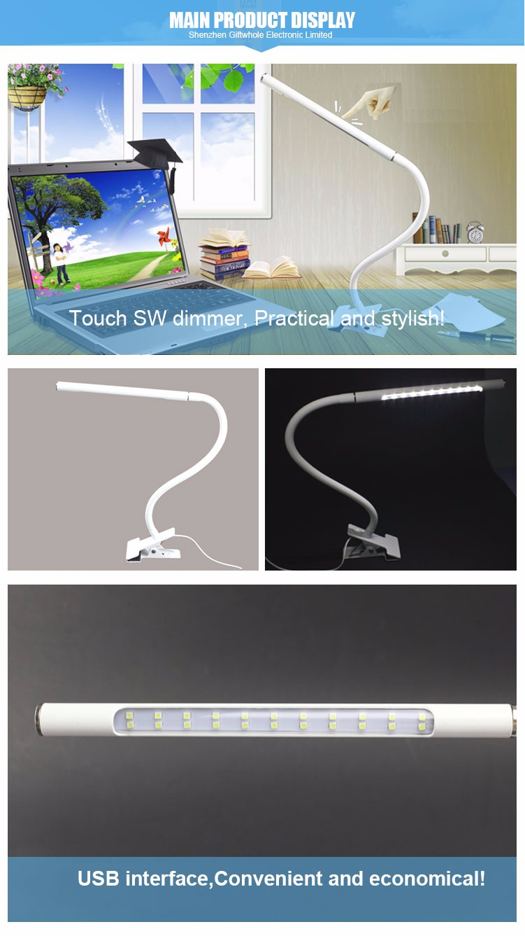 Wholesale Factory Metal Hose Led Desk Lamp With Usb