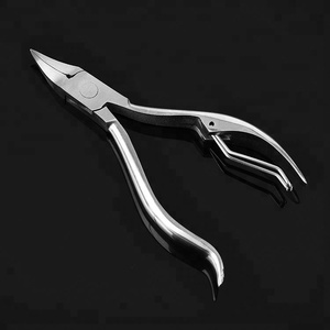 ICEQUEEN amazon hot sale thick nail and dead skin professional stainless steel cobalt cuticle nail nipper