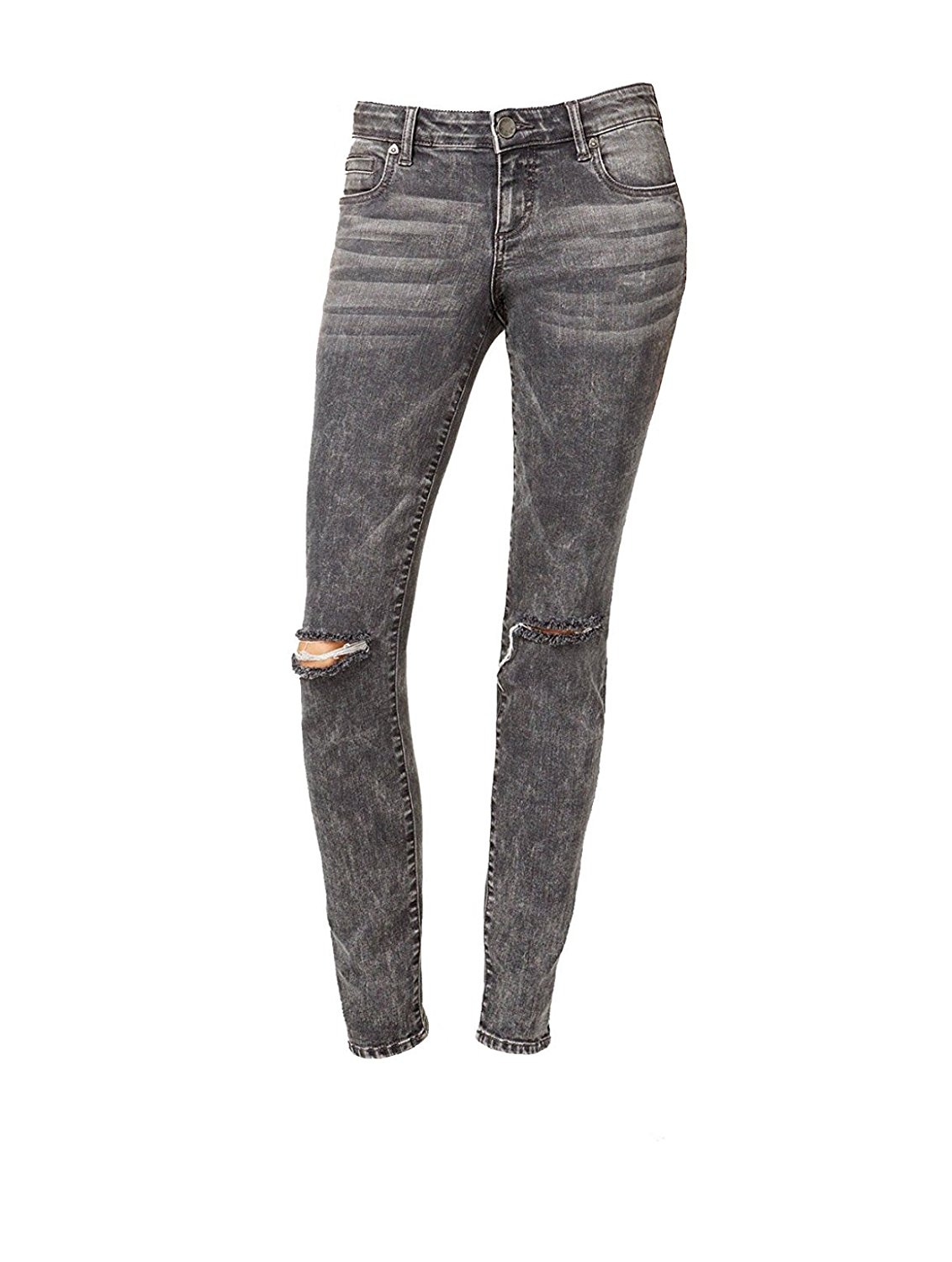 Kut from the Kloth Women's Diana Ripped Skinny Jeans (4, Grey)