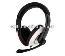 2013 new product Hot selling wired headset for PS3/computer