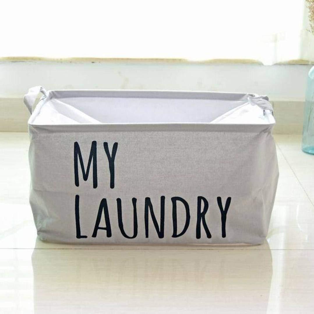 bestpriceam Cotton Linen Waterproof PE Coating Storage Basket Sundries Storage Box