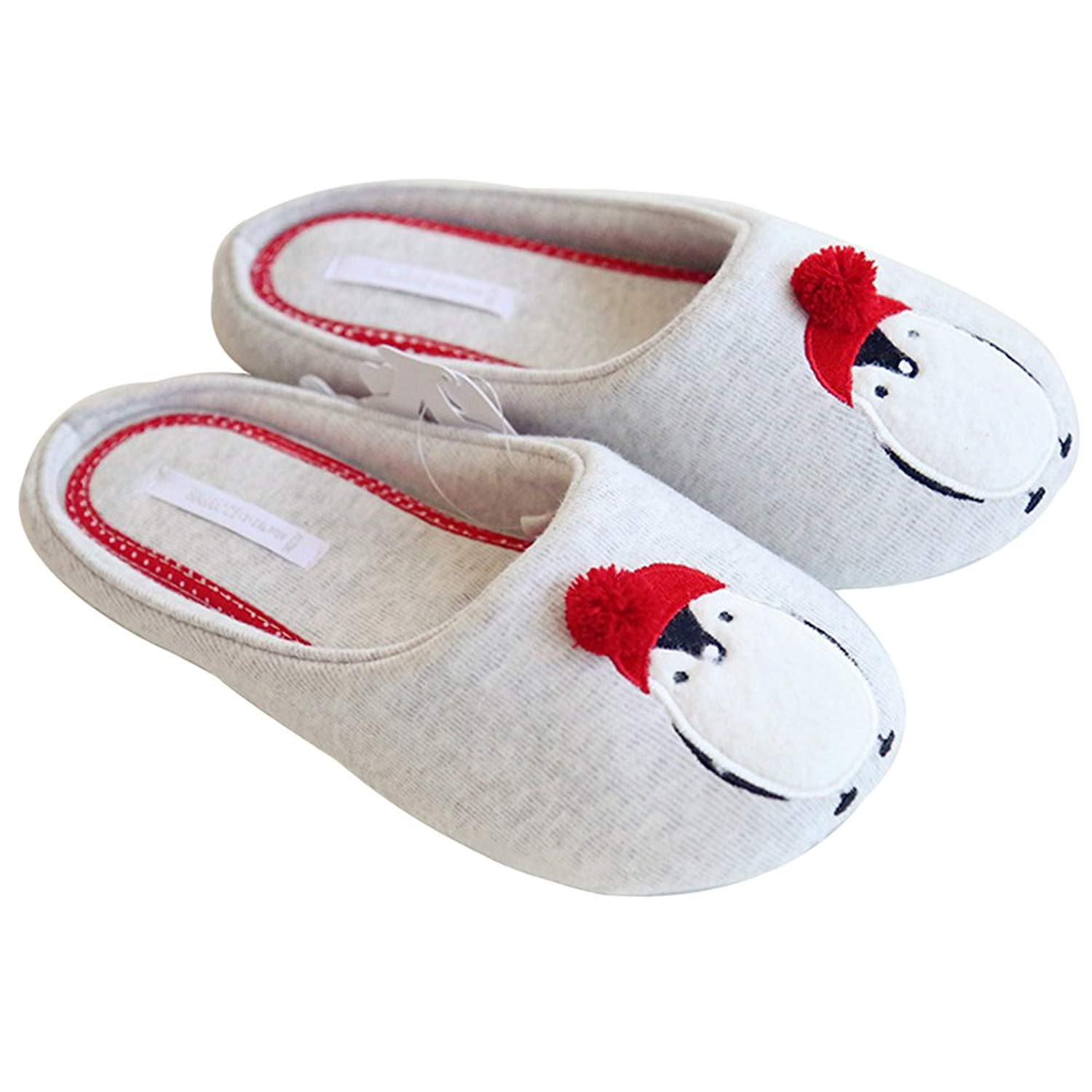 14e2a899cfd38 Get Quotations · ChicPro Winter Soft Christmas House Slippers Cute Penguin  Slip on Bedroom Slippers for Women