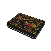 hinged metal tin cigarette box case