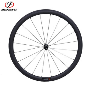Dengfu carbon wheels 700c clincher popular and cheap disc wheel cover with UD finish