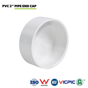"Central Vacuum White PVC 2"" Pipe End Cap"