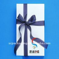 Blue gift box for scarves