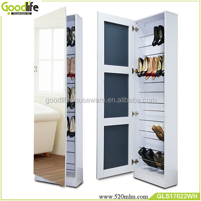 Hallway shoe cupboard rack storage cabinet with full for Armario zapatero pvc