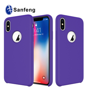 For Iphone X Case, Soft Liquid Silicone Rubber Case for Iphone X mobile phone shell