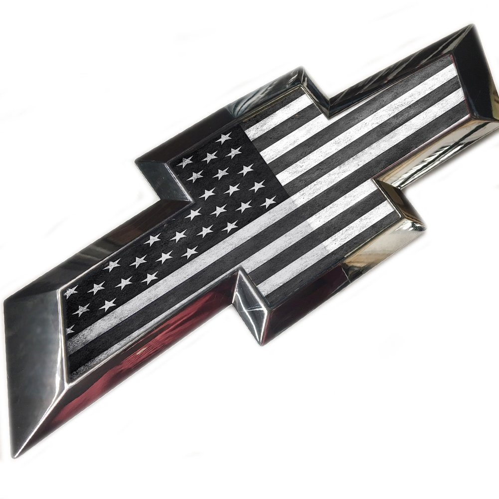 Cheap 37 Chevy Parts Find Deals On Line At Alibabacom Bel Air 57 Tailgate Diagram Get Quotations Subdued American Flag Bow Tie Emblem Silverado 1500 2014 2015 2016 2017 2018