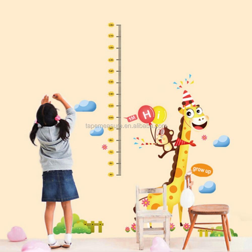 Children Height Measure Wall Sticker Growth Chart Buy Children