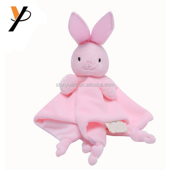 Wholesale Baby Stuffed Animal Head Plush Rabbit Stuffed Blanket