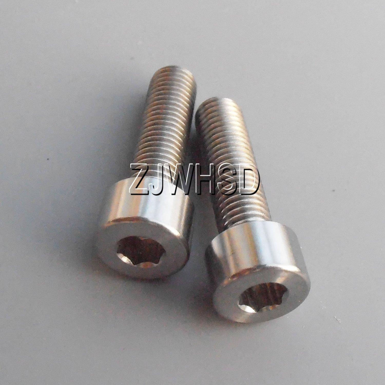 4pcs M6x25 Titanium Ti Screw Bolt Allen Hex Taper Socket Cap Head//AerospaceGrade