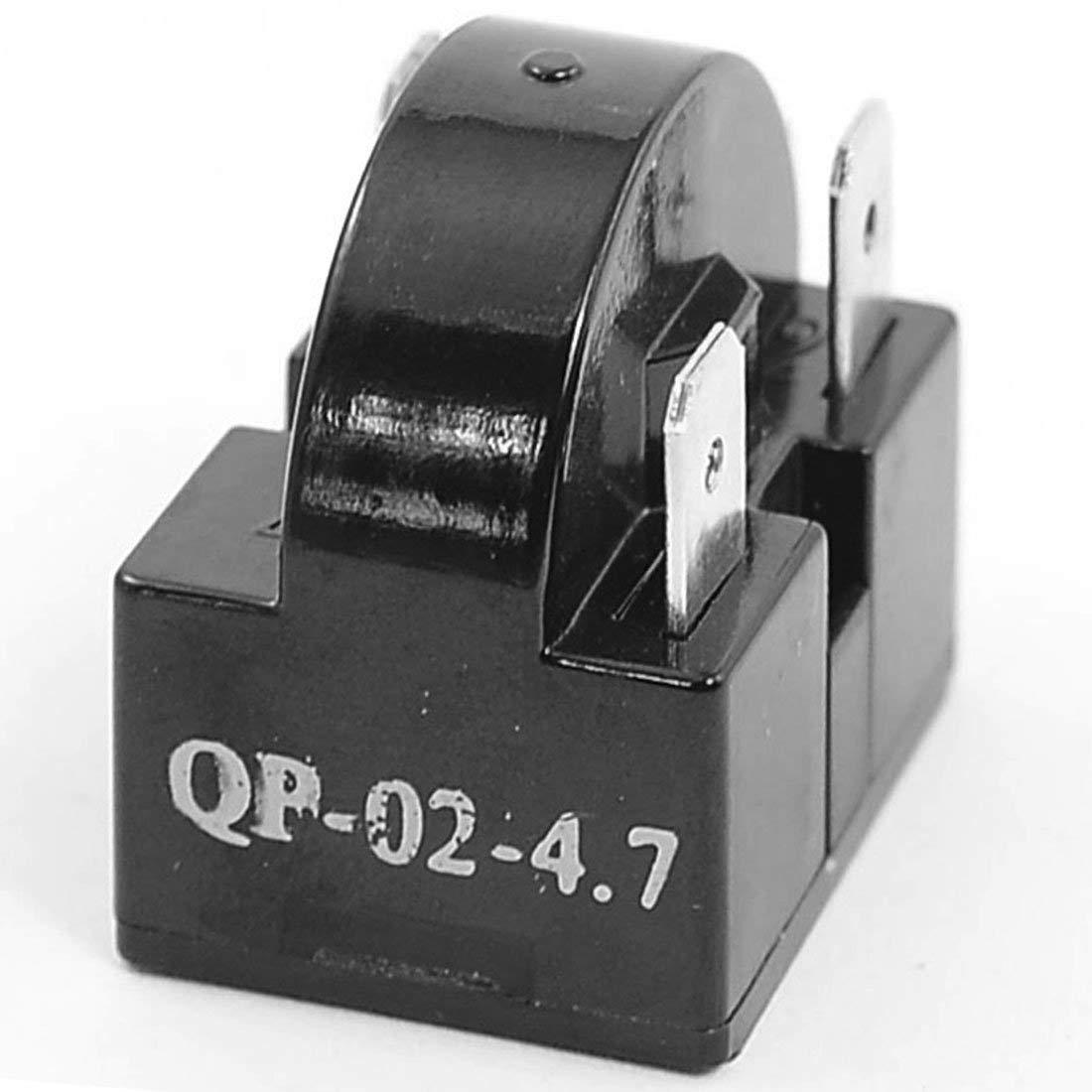 uxcell Plastic Housing 4.7 Ohm 3 Pin Refrigerator PTC Starter Relay Black