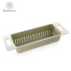 Colorful plastic rectangle kitchen tool vegetable and fruit storage basket with handle drip leachate basket