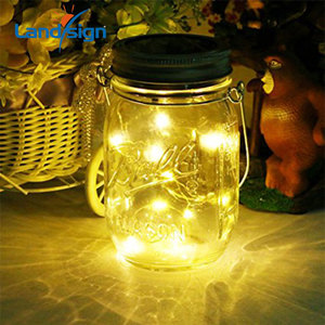 Mason Jar Lights 10 LED Solar Cold White Fairy String Lights Lids Insert for Patio Yard Garden wedding party