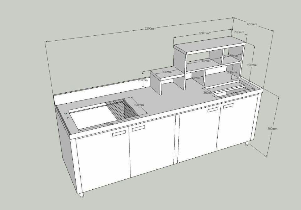 Kitchen Bar Height Diagram