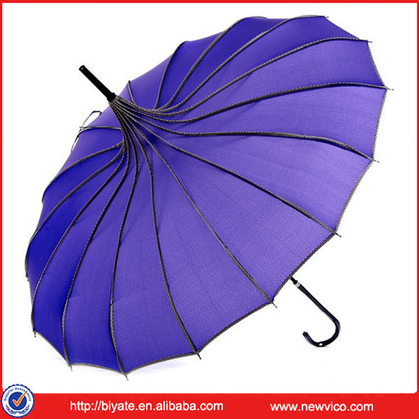 High Quality Fashion Blue Sun Or Rain Umbrella