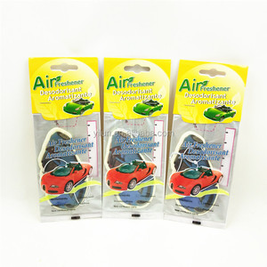 Paper Type elastic hang string promotional eco-friendly paper car air freshener
