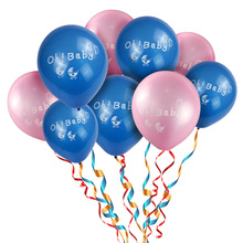 10inch 1st birthday print latex balloons for kids Birthday Baby shower girl 1st birthday Party Decoration supplies