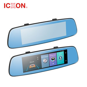 8 inch car smart rearview mirror for 4G with dual cam car dvr