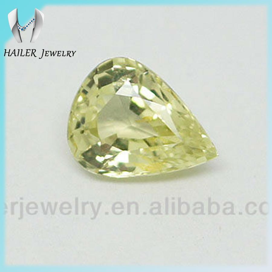 Light Yellow Loose Large Cz Stones Gemstones Pear Cut Cz Stone ...