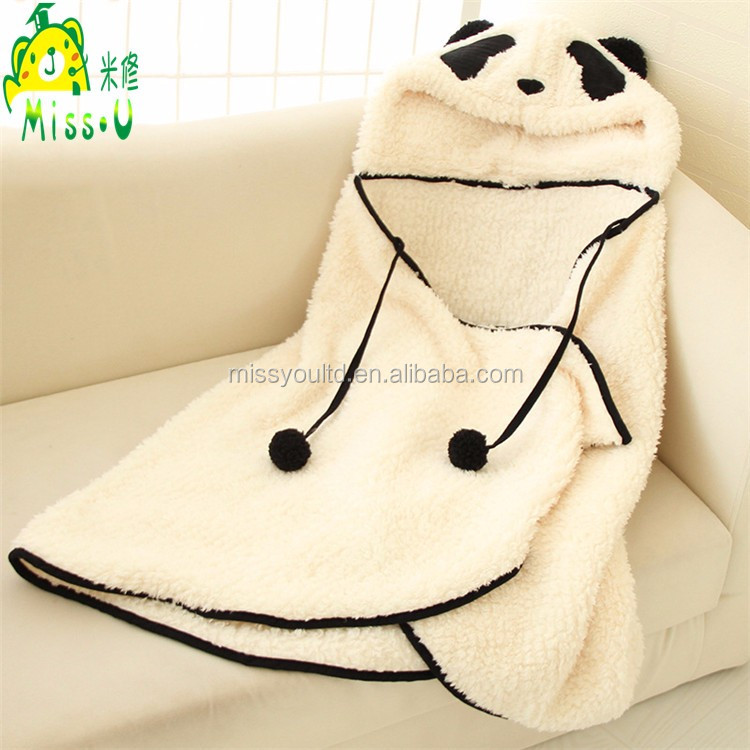 Direct Manufacturer White Panda Plush Cloak wholesale