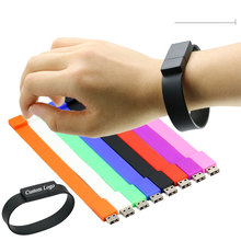 Colorful Durable Silicone bracelet usb flash drive for promotional item 1gb