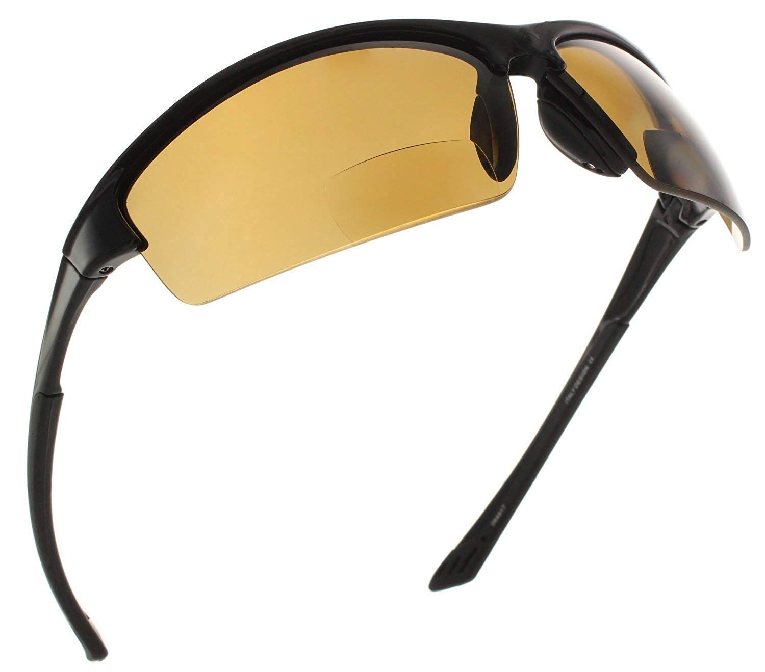 0fbd37809be Get Quotations · Fiore Laguna Polarized Sport Wrap TR90 Bifocal Sunglasses  Sun Readers
