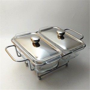 Food Warmer For Catering Buffet Chafer glass Chafing Dish