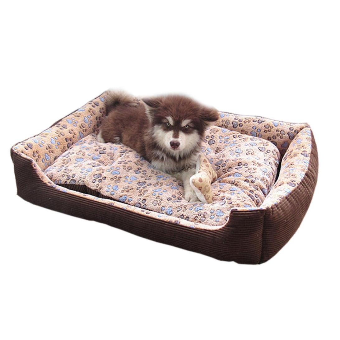 Pet Bed,Elevin(TM)Warm Dog Cat Beds House Cushion Mat Pad Basket Nest Soft Rectangular Lounger