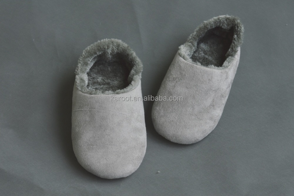 fashion leather plush fur warm indoor outdoor bedroom slipper woman man