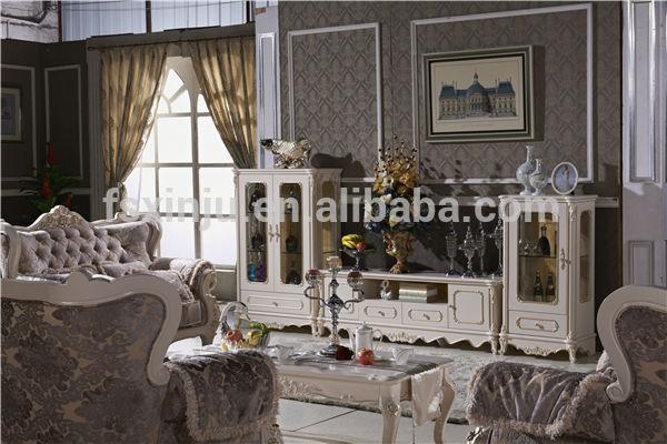 Luxus Italienischen Holz Geschnitzt Wohnzimmer Möbel Set Htk01