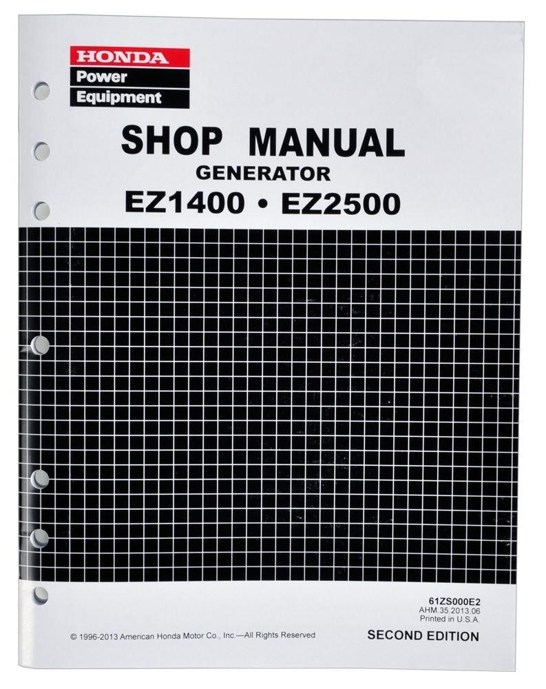 Get Quotations · Honda EZ1400 EZ2500 Generator Service Repair Shop Manual