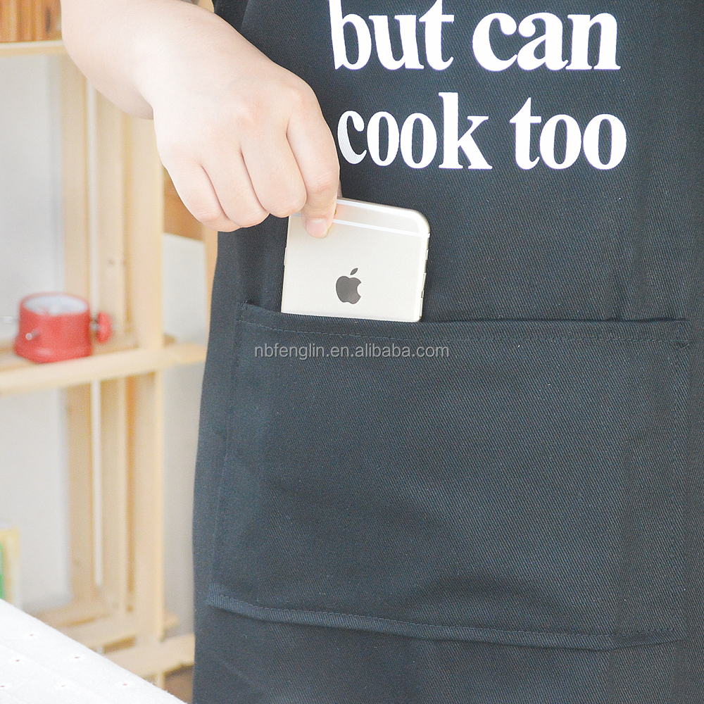 China Supplier 100%Cotton Apron Cute Cat Printed Kitchen Apron