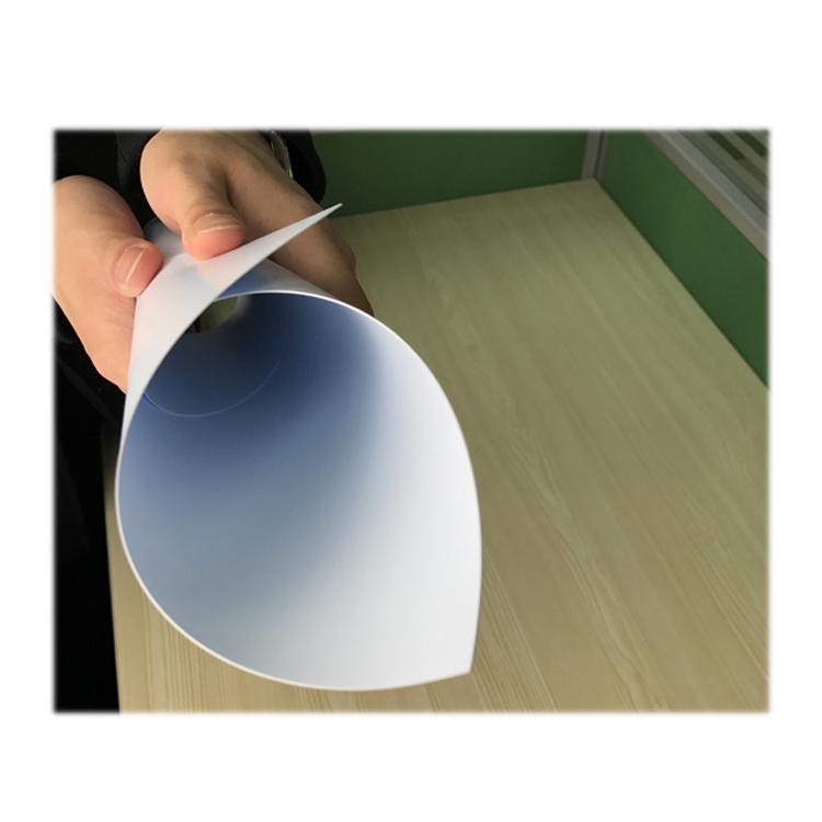 gute produktionslinie weiße halbstarre kunststoff-pvc-blattrollen für datei box durch chinesischen lieferanten