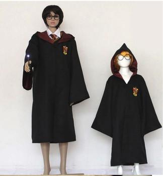 Custom Logo Cosplay Black Harry Potter Robe Gryffindor Robe Black