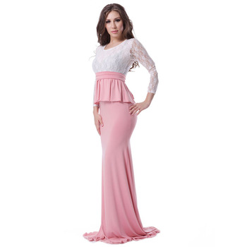 ddaa089409179 ファッションイスラム教徒ドレススタイリッシュなエレガントフォーマル長袖ウエディングドレス