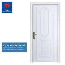 White PU painting 2 panel china solid wooden front doors modern design