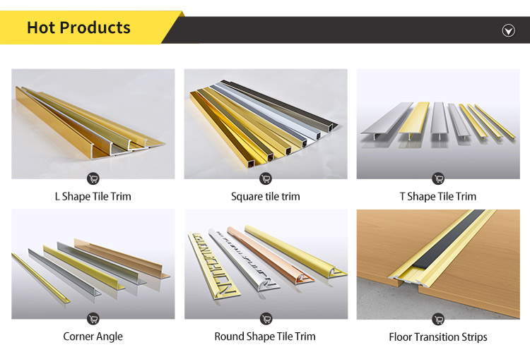 Non Slip PVC Strip Cutting Aluminum Stair Nosing