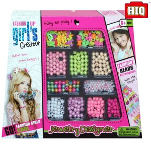 Fashion beauty plastic diy toy set for girls perler beads toys