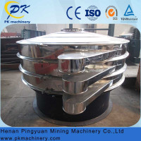 Electric rotary vibrating sieve sifter with wear resisting mesh screen for oil sand soil